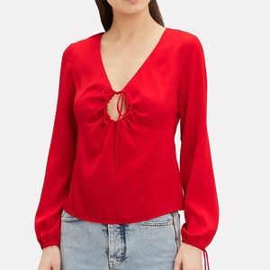 NWT! Intermix Red Keyhole Top - Size 6